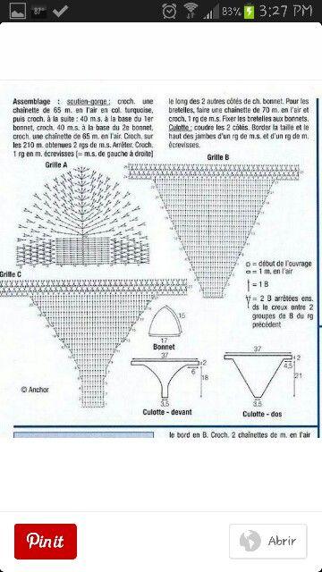 Diagrama bikini crochet   crochet diagramas patrones ropas ...