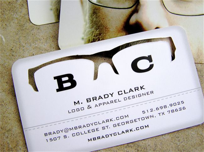 How Mag Link To Some Neat Biz Cards Love The Punch Out On This One