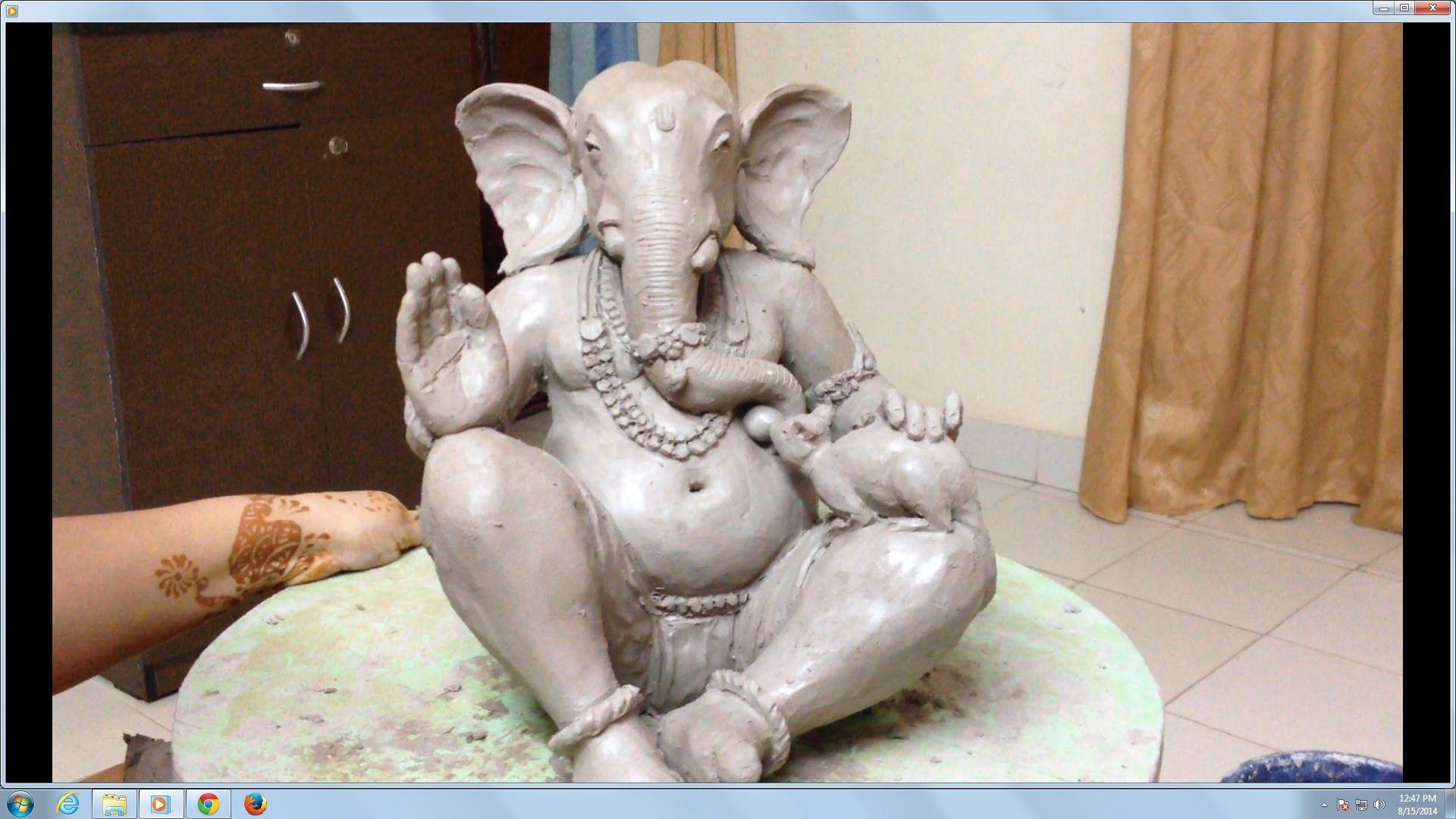 eco friendly clay ganesh easy | happy birthday, ganesha! | pinterest