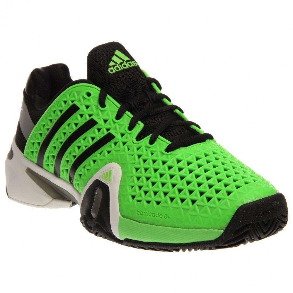 New Adidas Adipower Barricade 8 Tennis Mens Solar Green 130 Nib