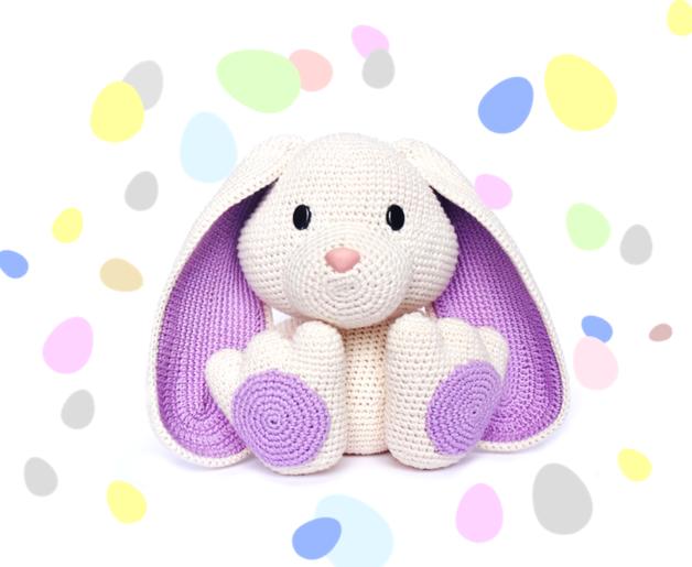 Patrón conejo amigurumi de crochet orejas largas - hecho a mano en ...