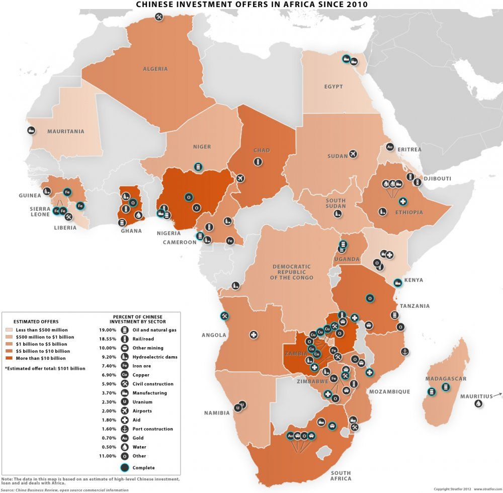 Map of Chinese investments in Africa—this should be a wake up call