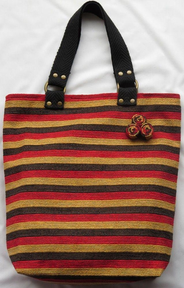 Bolso de vestir hecho a mano en tela de tapiceria feria central ideas pinterest - Bolsos de tela hechos en casa ...