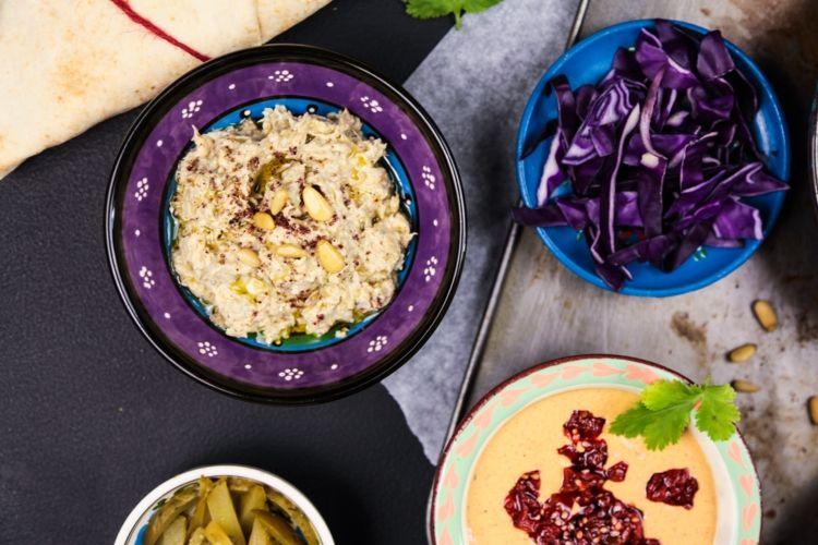 tahini auberginen salat syrische küche Rezepte Pinterest - syrische küche rezepte