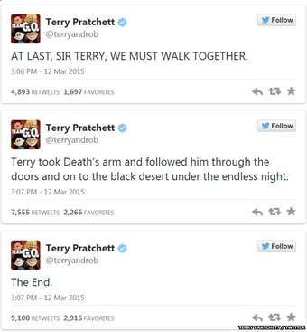 We will miss you, Sir Terry Pratchett.