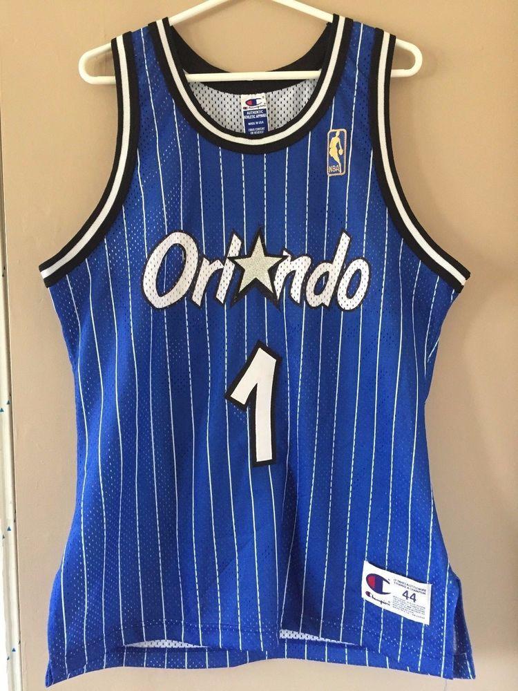 the best attitude 52fe1 6cafe NBA Authentic Penny Hardaway Orlando Magic Jersey Champion ...