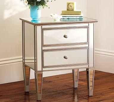 Park Mirrored Bedside Table (Pottery Barn)