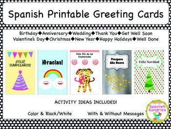 Spanish greeting cards bilingual spanish and esl teaching ideas spanish greeting cards m4hsunfo