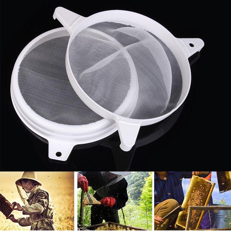 Reusable Filtration Net Honey Bee Strainer Purifier Skimmer Beekeeping Tools