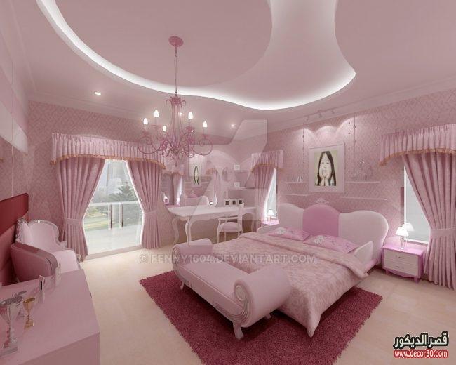 جبس غرف نوم كلاسيك اجمل 60 تصميم اسقف جبس 2019 قصر الديكور Bedroom False Ceiling Design Home Room Design Guest Bedroom Decor