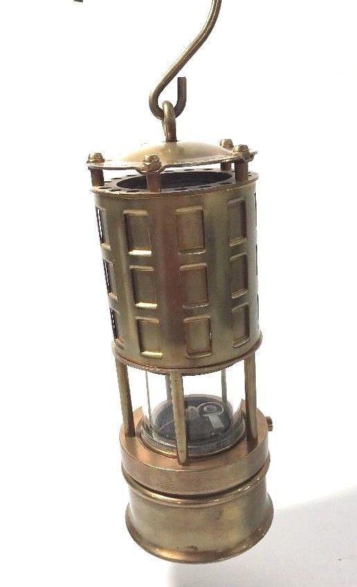 Koehler Miner S Brass Safety Oil Lamp Lantern Model 289 1a Mining Marlboro Mass Oil Lamps Lanterns Lamp