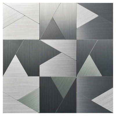 "Art3d 12"" x 12"" Metal Peel & Stick Mosaic Tile | Wayfair"