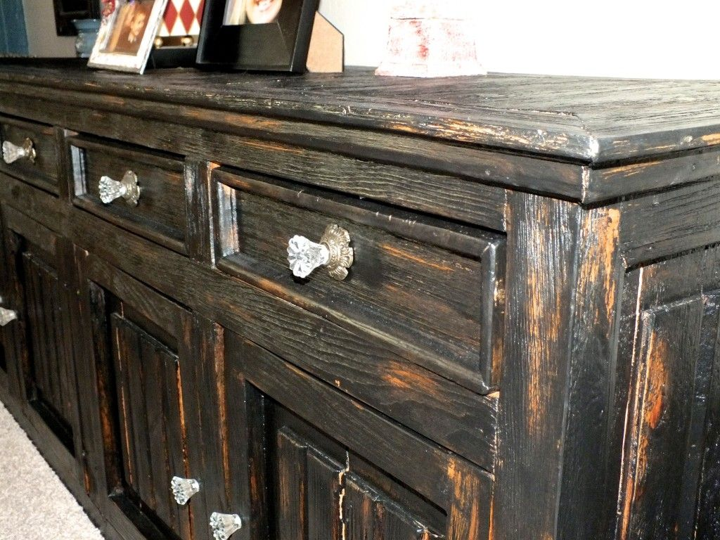 Bar black buffet chunky credenza finish finishes furniture heavy house of rumours paint refinished rustic shabby chic sideboard tres amigos