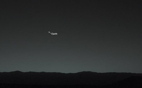 Martian night sky