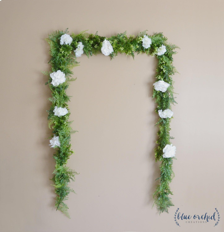 Flower Garlands For Weddings: Wedding Backdrop, Flower Garland, Greenery Garland