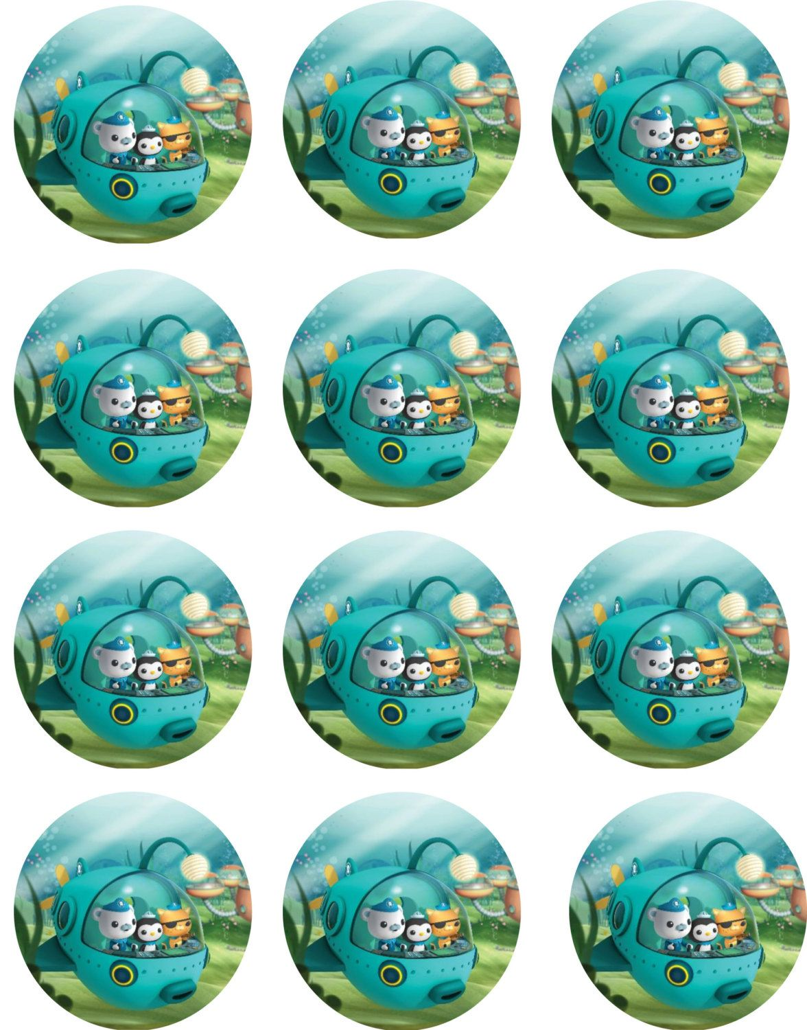 Octonauts Edible Image Cupcake Toppers by ShoreCakeSupply on Etsy