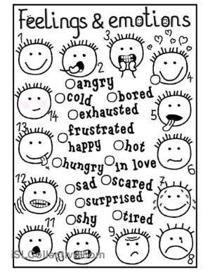 Image result for identifying feelings worksheets for kids ...