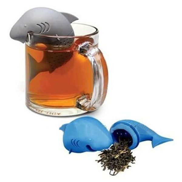 Useful Silicone Shark Infuser Tea Leaf Strainer Herbal Spice Filter Diffuser