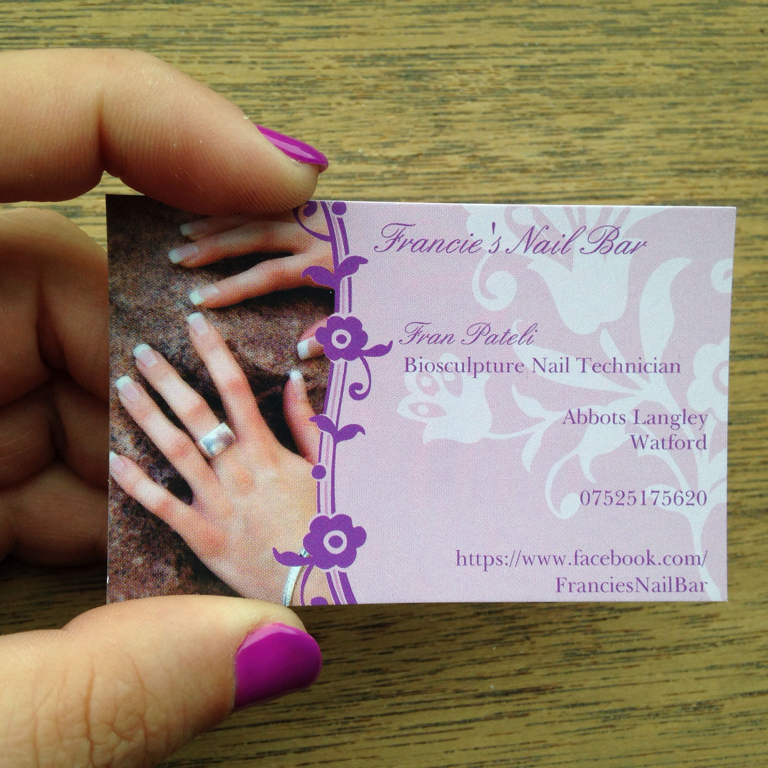 my business card nails business biosculpture gels qualified