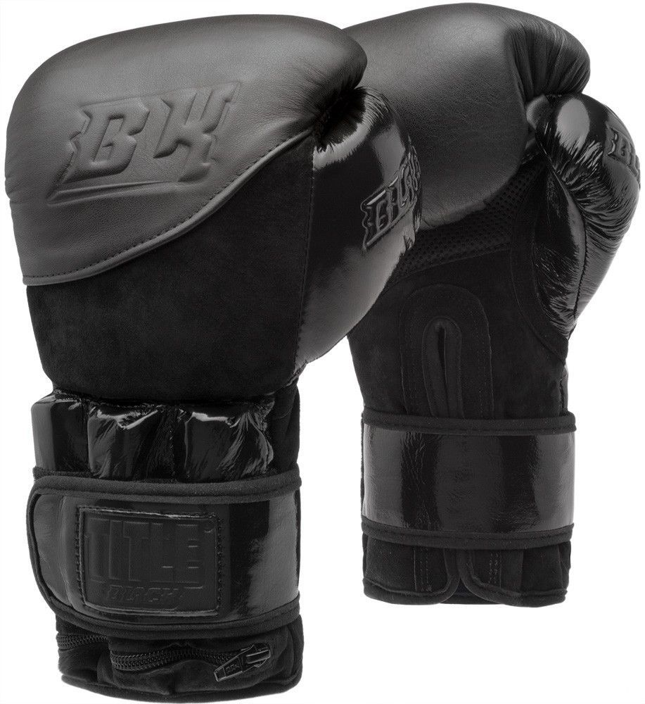 8c49219c187 TITLE BLACK BLITZ WEIGHTED BAG GLOVES boxing muay thai MMA kickboxing  protection #TITLEBoxing