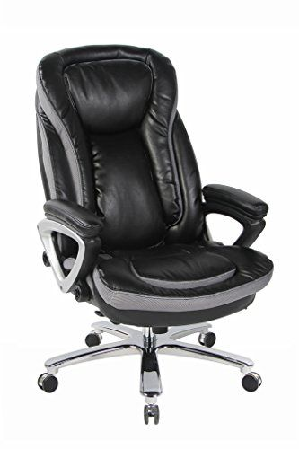 viva office deluxe big and tall thick padded high back bonded