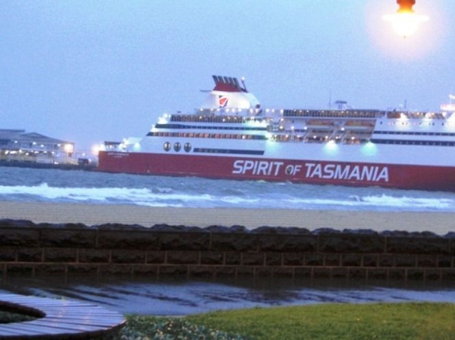 Spirit of Tasmania travellling between Melbourne and Tasmania. Take the Family on a trip to Tassie. I have never been there.