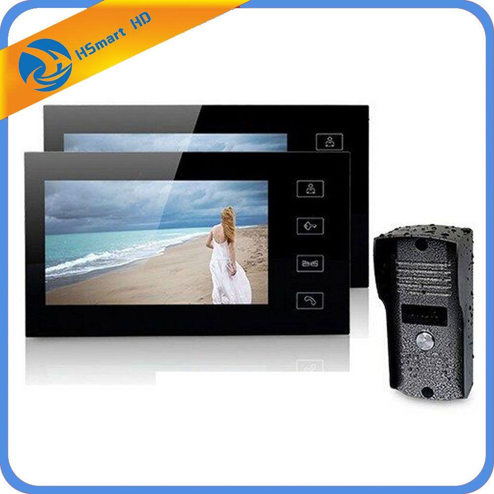 """Vidéo Doorbell Intercom Türsprechanlage 1 famille 7/"""" TFT Moniteur Interphone"""