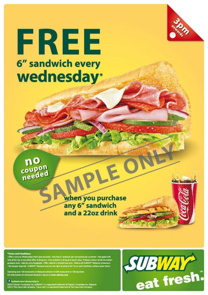 Subway sandwich coupons 2019