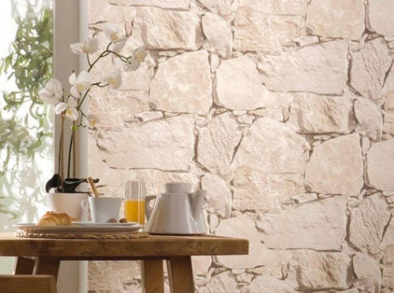 r sultat de recherche d 39 images pour papier peint imitation brique pour cuisine mur pierre. Black Bedroom Furniture Sets. Home Design Ideas