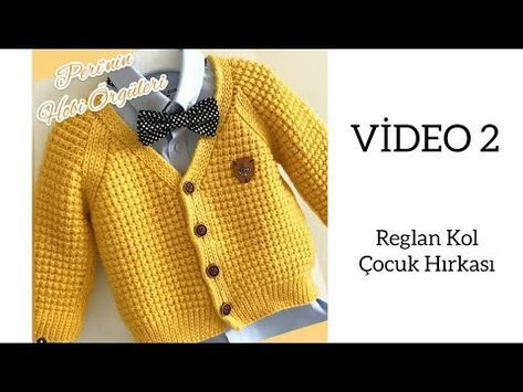 Reglan Arm Kinder-Strickjacke VIDEO-2 Kinder-Strickjacke Modell