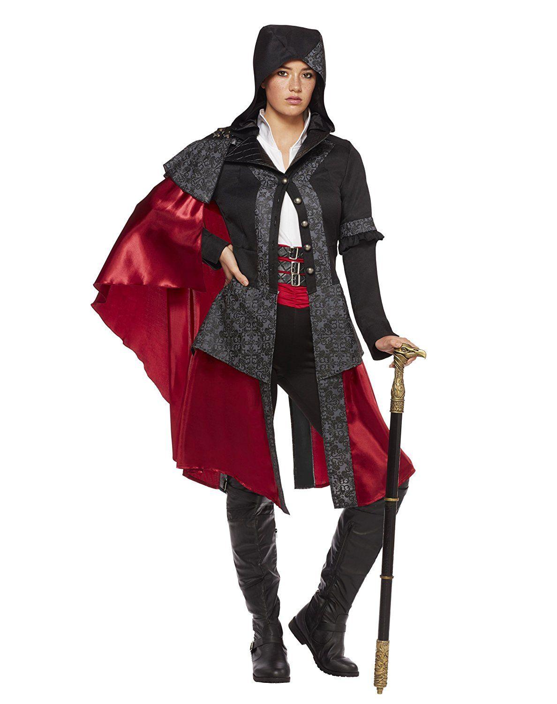 Assassin/'s Creed II Ezio Hooded Jacket Leg Avenue Costume Warrior Cosplay