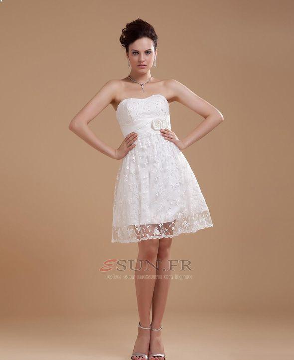 Robe blanche dentelle livraison rapide