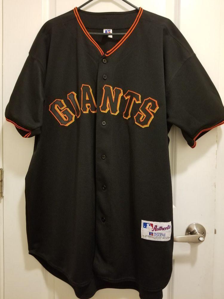 8b669d26923 Authentic Vintage Russell San Francisco Giants Barry Bonds Black Jersey  Size 48 (eBay Link)