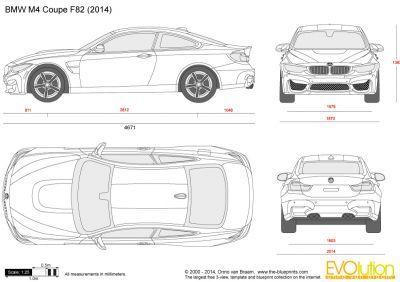 Bmw M4 Coupe F82 Vector Blueprints M4 Coupe Bmw M4 Bmw