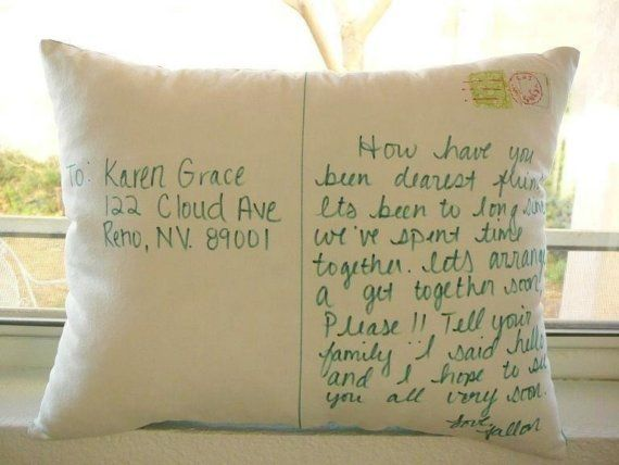 Personalize+a+Postcard+Pillow+by+OIive+on+Etsy,+$32.00