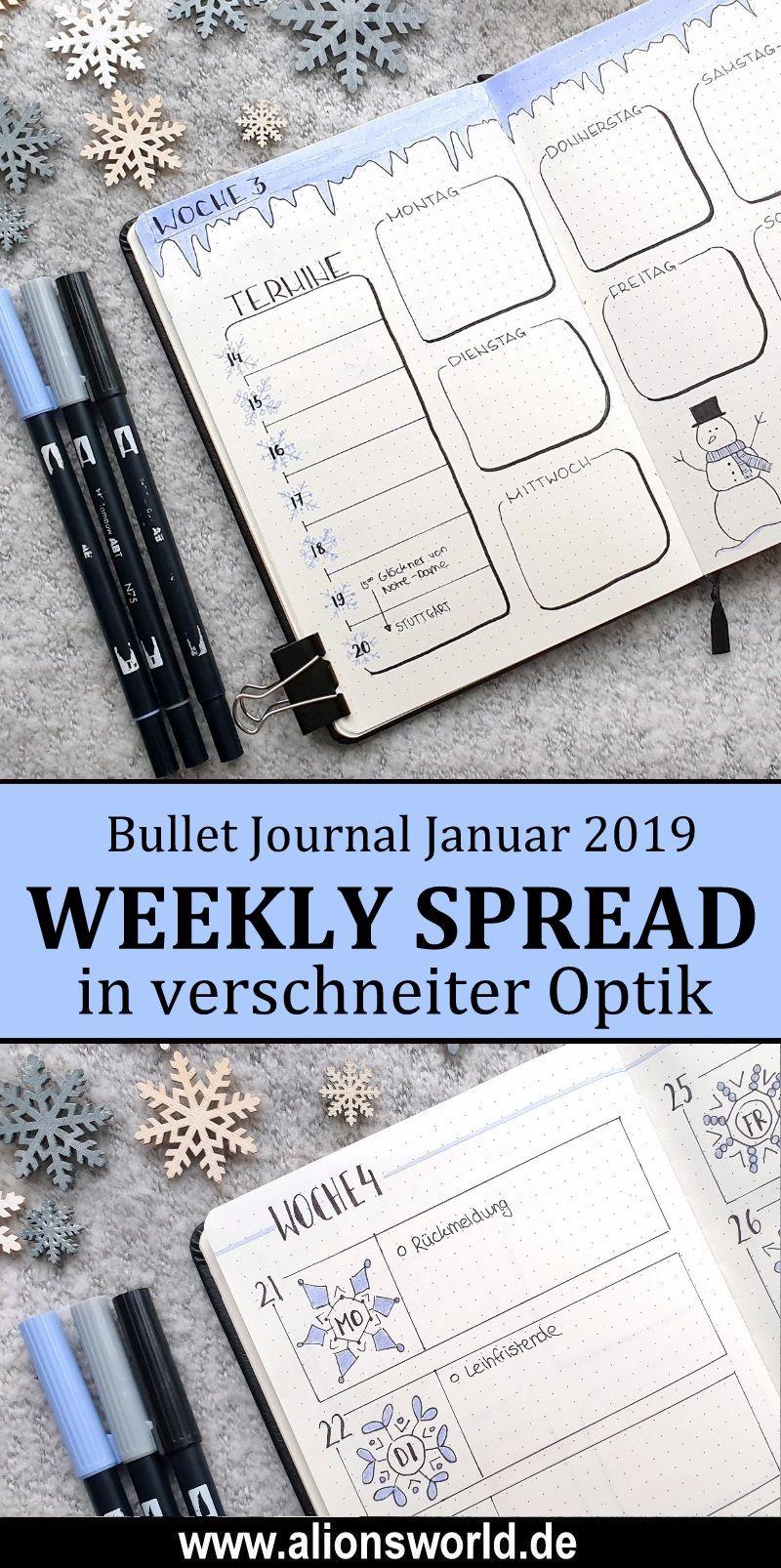 Bullet Journal Januar 2019
