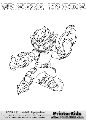 skylanders coloring pages freeze blade - photo#10