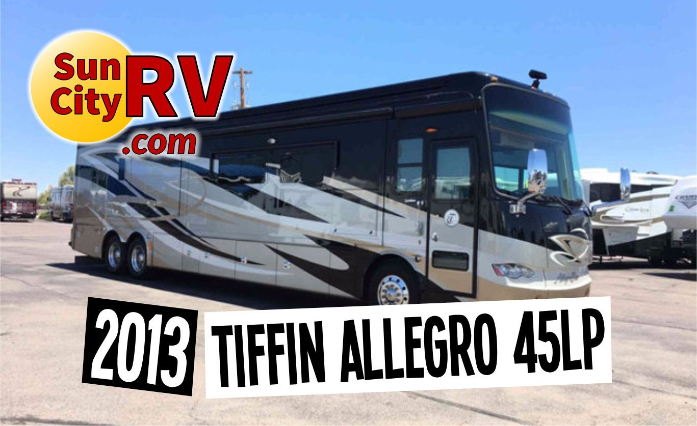 Just arrived at Sun City RV, this 2013 Tiffin Allegro Bus