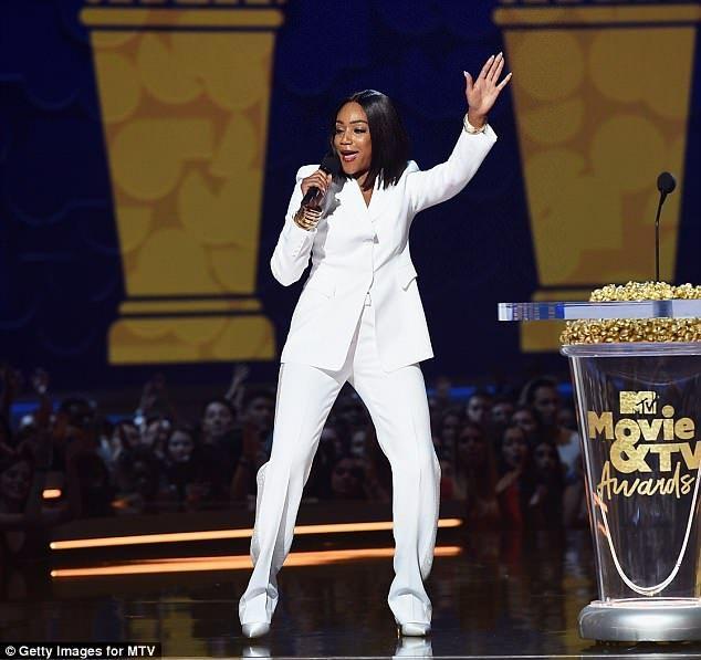 Tiffany Haddish sports NINE outfit changes throughout MTV Awards