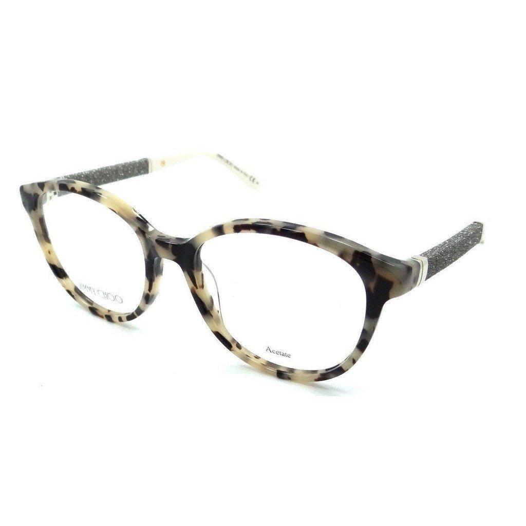 89e1ef7cf9 Jimmy Choo Rx Eyeglasses Frames JC 118 VUV 51-17-135 Havana Glitter Cream  Italy