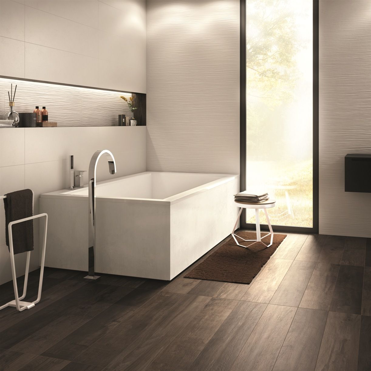 Rivestimenti Bagni Piccoli Esempi esempio perfetto del mix&chic #abkemozioni questo #bagno che