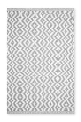 Wool Grey Diamond Geo Rug From The Next Uk Online