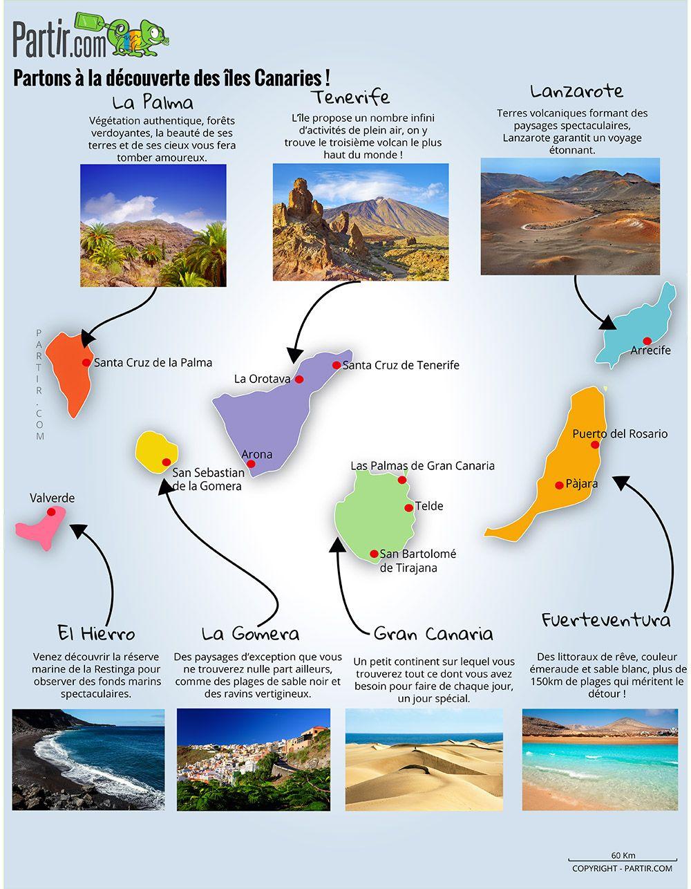 Carte Des Regions Canaries Iles Canaries Canaries Lanzarote