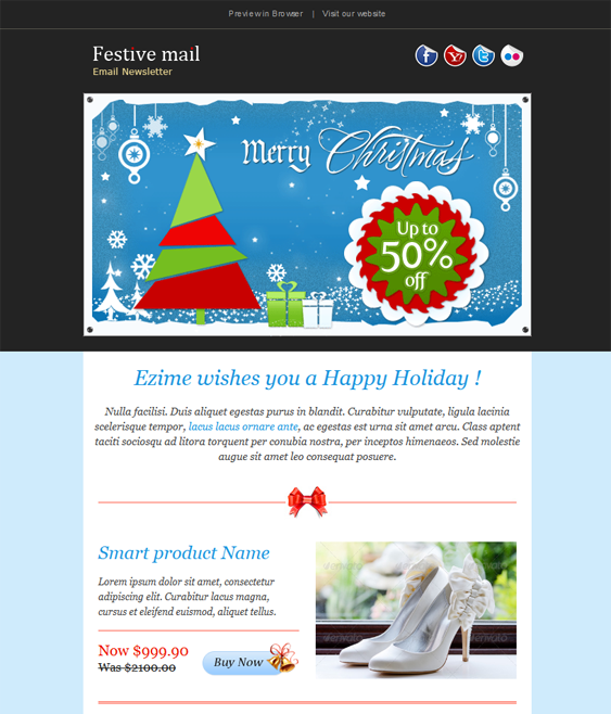 This holiday and christmas email template includes a responsive constant contact templates this holiday and christmas email template includes a responsive pronofoot35fo Image collections