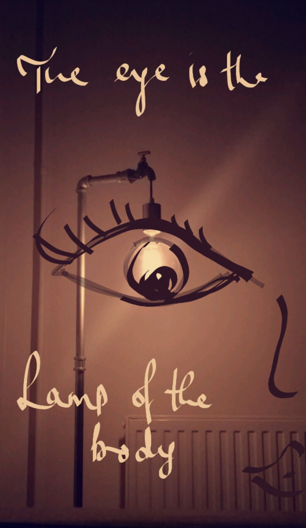 """The eye is the lamp of the body. If your eyes are healthy ..."