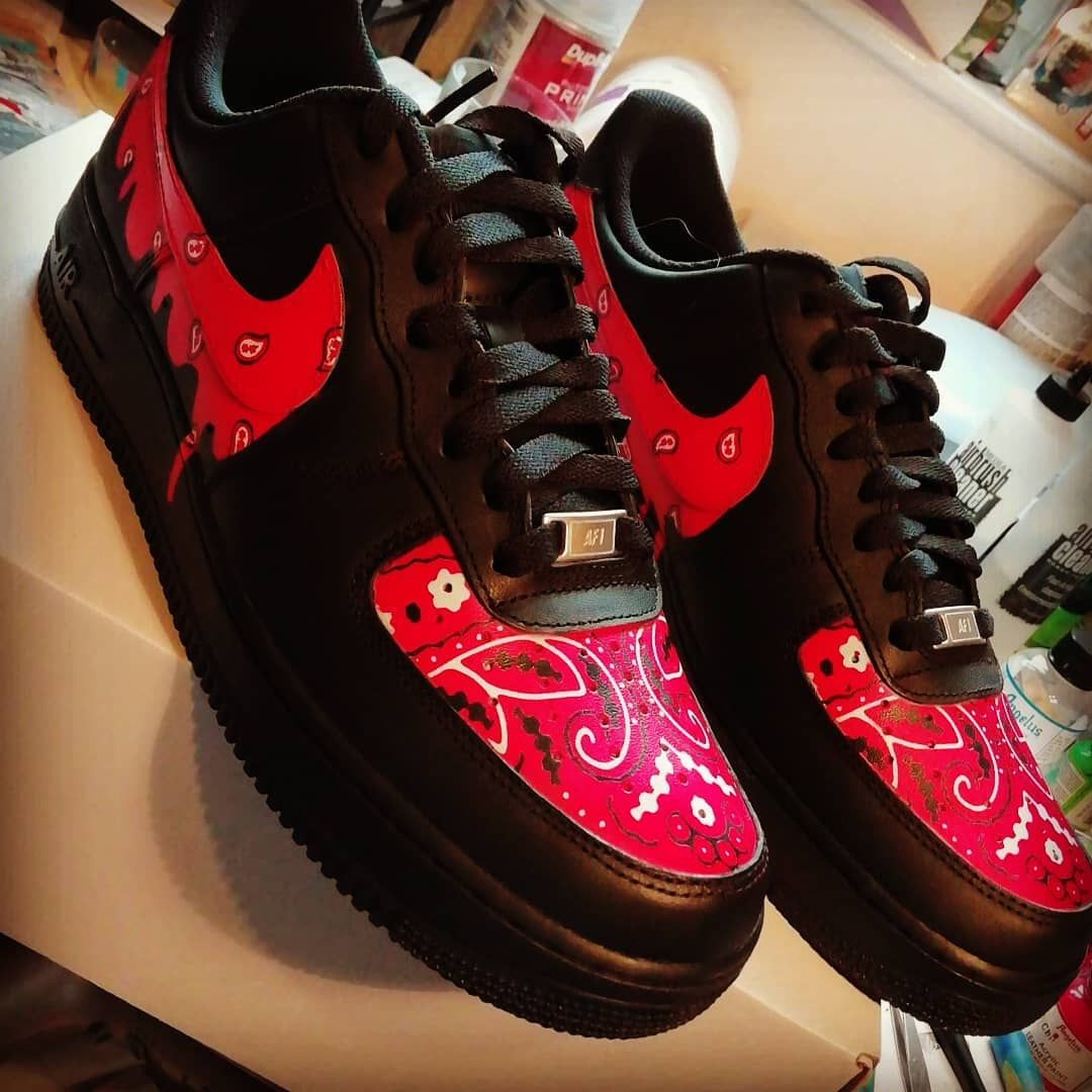 Drippy paisley/bandanna nike air force 1 available in any