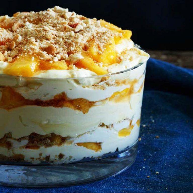 Photo of Delicious Peach Vanilla Cheesecake Trifle Recipe – Luise.site