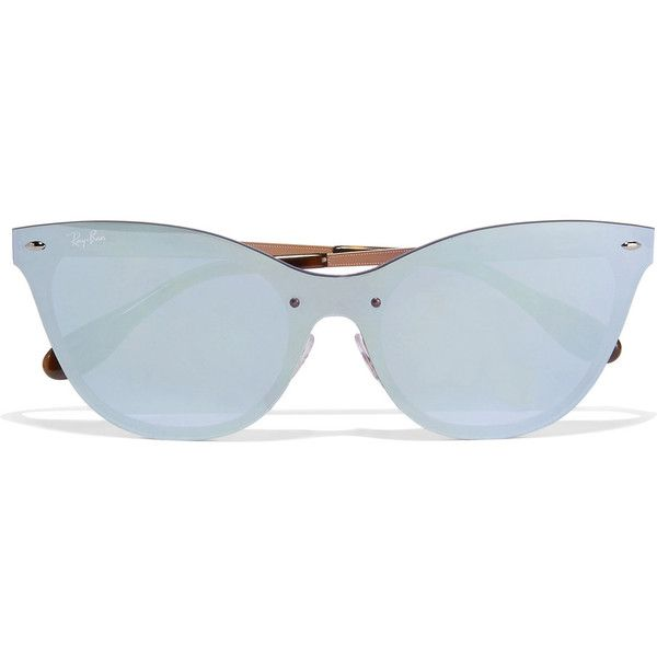 cf0c6bcced Ray-Ban Cat-eye acetate mirrored sunglasses ( 205) ❤ liked on Polyvore