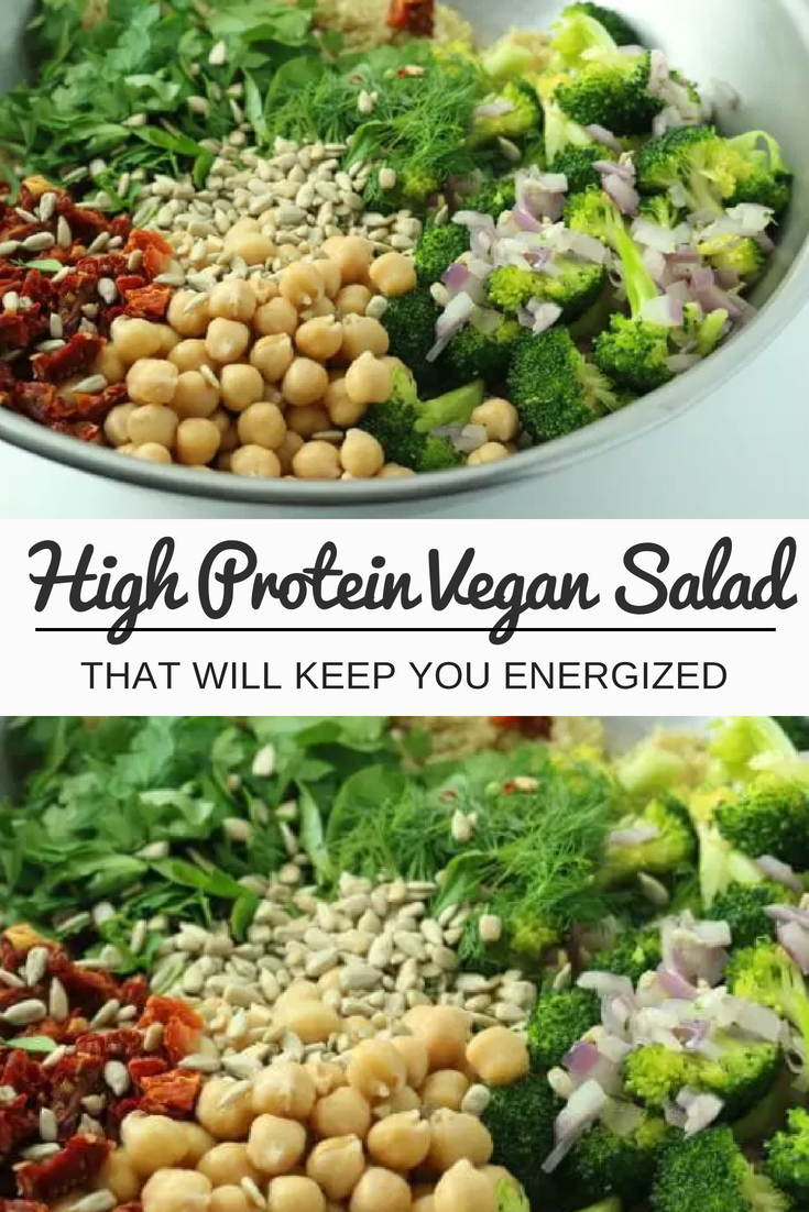 High Protein Vegan Salad That Will Keep You Energized Recipe Healthy Recipes Vegetarian Food Recipes