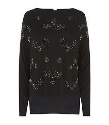 View the Embellished Belfast Sweater